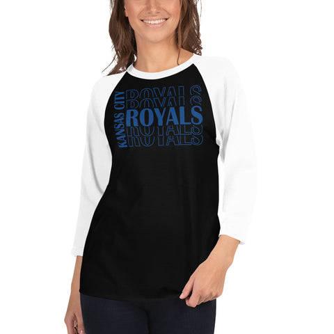 Royals Royals Royals 3/4 Sleeved Raglan T-Shirt