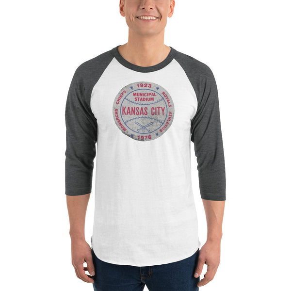 Municipal Stadium 3/4 Sleeved Raglan T-Shirt