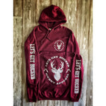 LET'S GET BUCKED - MAROON W/ LIGHT GREY PREMIUM HOODIE
