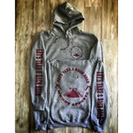 LET'S TAKE A BACK ROAD - HEATHER GREY W/ MAROON PREMIUM HOODIE