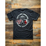 LET'S GET COUNTRY - TEXAS - VINTAGE BLACK W/ RED & WHITE PREMIUM TEE