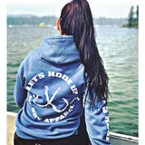 muddy-apparel-shop.myshopify.com LET'S HOOK UP - BLUE W/ WHITE PREMIUM HOODIE
