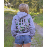 QUICK & DIRTY - HEATHER GREY W/ CAMO PREMIUM HOODIE