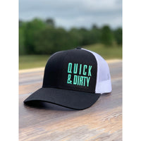 QUICK & DIRTY - BLACK & WHITE W/ MINT PREMIUM HAT