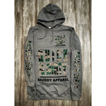 muddy-apparel-shop.myshopify.com QUICK & DIRTY - HEATHER GREY W/ CAMO PREMIUM HOODIE