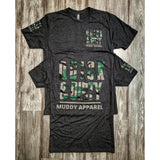 muddy-apparel-shop.myshopify.com QUICK & DIRTY - VINTAGE BLACK W/ CAMO PREMIUM TEE