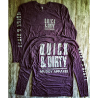 QUICK & DIRTY - VINTAGE PURPLE  W/ GREY PREMIUM LONG SLEEVE