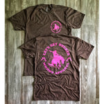muddy-apparel-shop.myshopify.com LET'S GET BUCKED 2 - EXPRESSO WITH PINK PREMIUM TEE