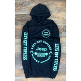 "LET'S GET TOPLESS the ""JEEP"" - BLACK W/ MINT PREMIUM HOODIE"