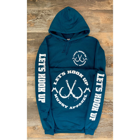 LET'S HOOK UP - LEGION BLUE W/ WHITE PREMIUM HOODIE