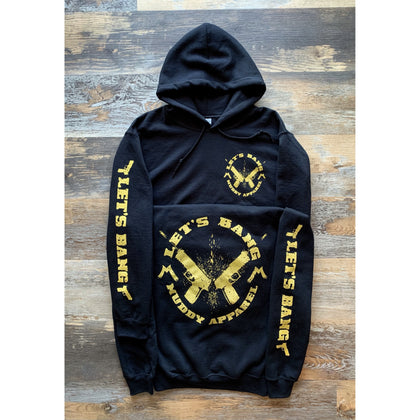 LET'S BANG 2 - BLACK W/ GOLDEN MUSTARD PREMIUM HOODIE