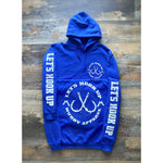 LET'S HOOK UP - ROYAL W/ WHITE PREMIUM HOODIE