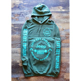 LET'S GET TOPLESS - MILITARY W/ LIGHT TURQUOISE PREMIUM HOODIE