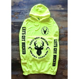 LET'S GET BUCKED - SAFETY YELLOW W/ BLACK PREMIUM HOODIE