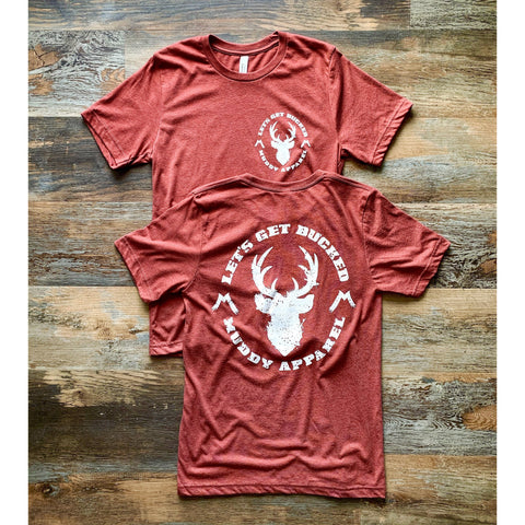 LET'S GET BUCKED - HEATHER CLAY W/ WHITE PREMIUM TEE