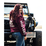 muddy-apparel-shop.myshopify.com QUICK & DIRTY - MAROON W/ WHITE PREMIUM HOODIE