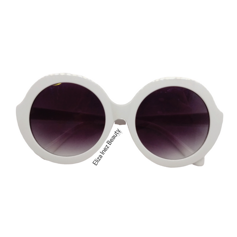 Round Sunglasses, White sunglasses, summer fashion