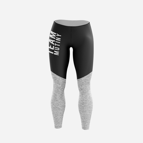 Vanta Black and Grey - Leggings - Mutiny GymWear