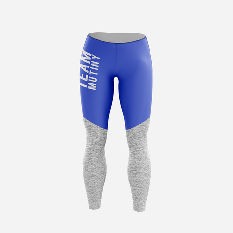 Royal Blue And Grey - Leggings - Mutiny GymWear