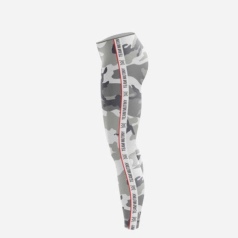 Urban Camo White Stripes - Leggings - Mutiny GymWear