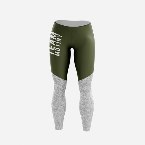 Olive And Grey - Leggings - Mutiny GymWear