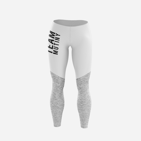 Ultra White And Grey - Leggings - Mutiny GymWear