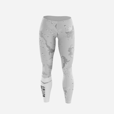 White Stealth Camo - Leggings - Mutiny GymWear