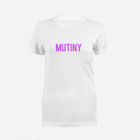 Purple Statement Logo - T-Shirt - Mutiny GymWear