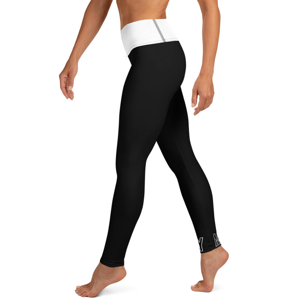 Black and White King Leggings - Mutiny GymWear