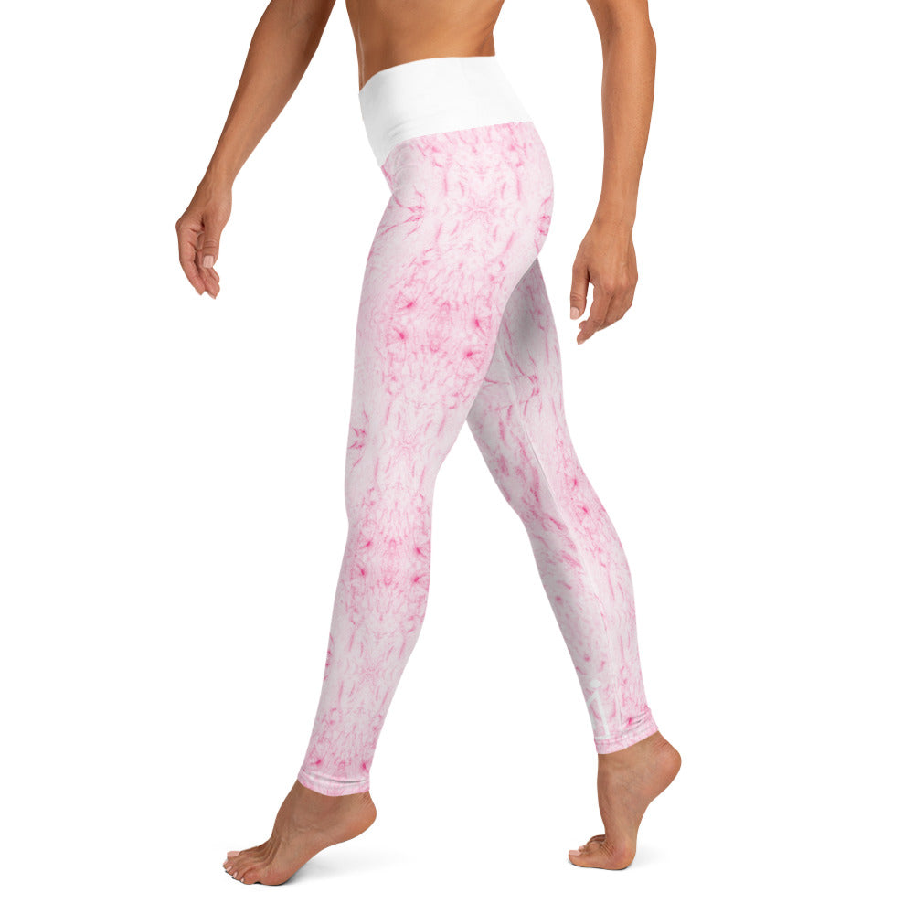 Pink Marble High Waisted Leggings - Mutiny GymWear