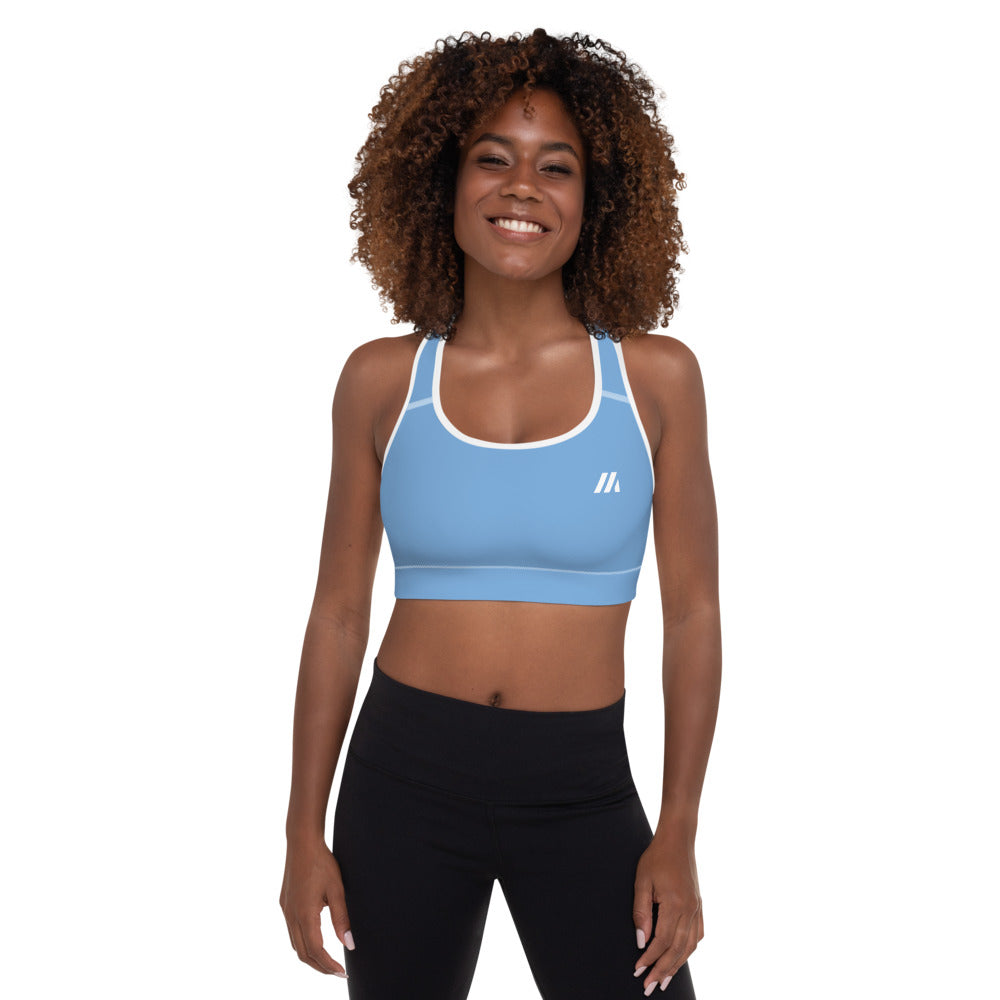 Energy Padded Sports Bra Blue - Mutiny GymWear