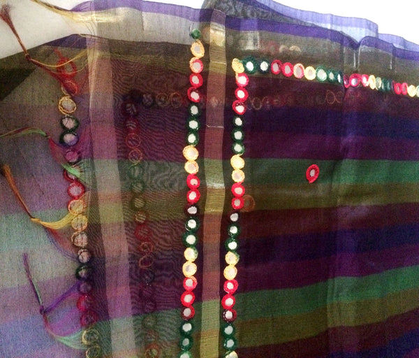Indian dupatta for women with embroidery