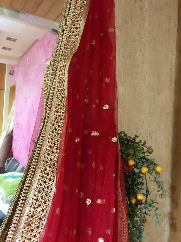 Bridal Indian Wedding Dupatta long net embroidered scarf Punjabi dress dupattas with sequin embroidery for festival chunni lehenga stole