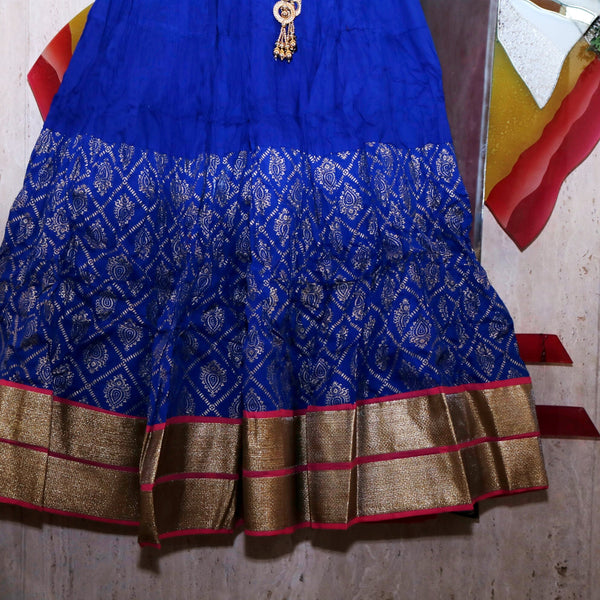 Blue Indian Skirt Lehenga party wear Street style maxi long skirt. Women girls skirt cotton stylish bottoms