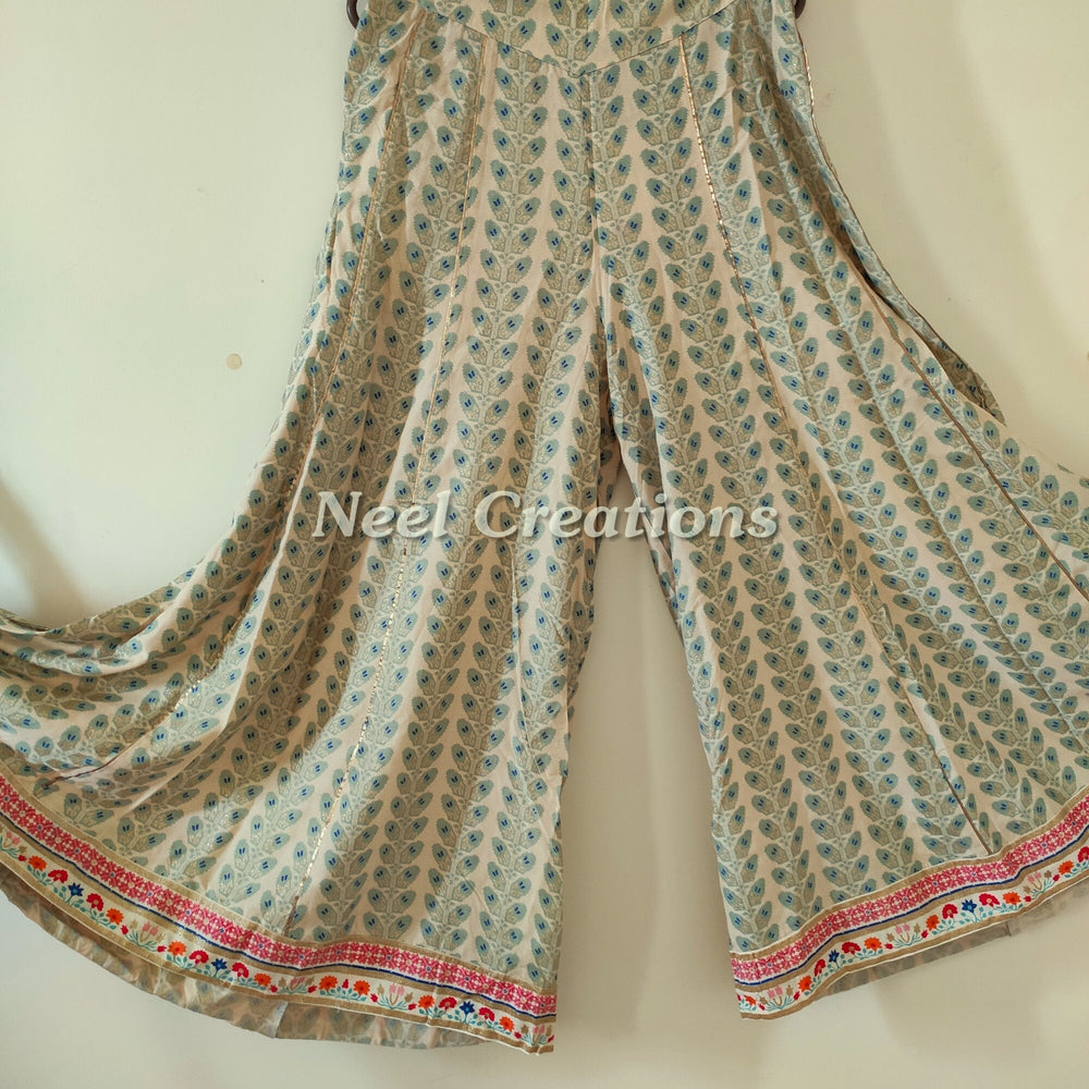 Indian pants | Palazzo pants for women | Stylish bottoms printed wide leg pants