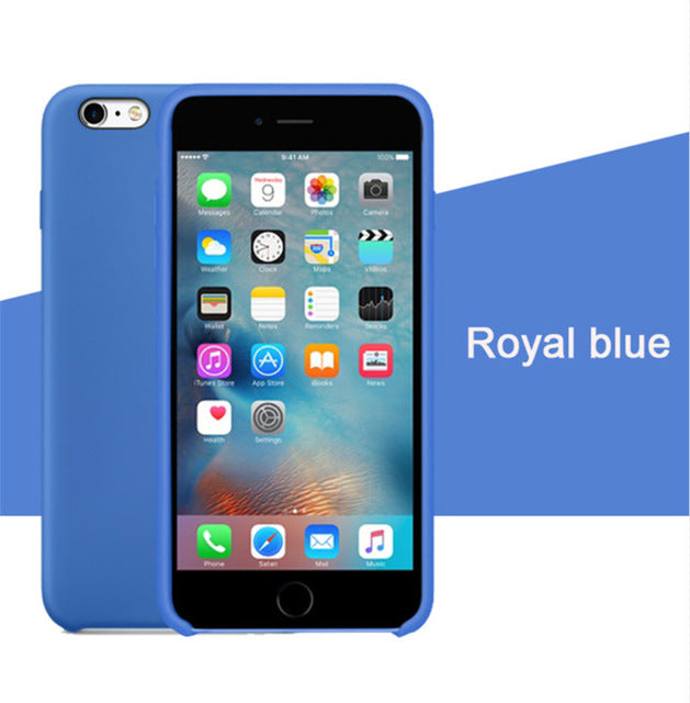 With LOGO Original Silicone Case for Iphone 7 8 Plus X 6 S BUY 1 AND GET 1 FREE