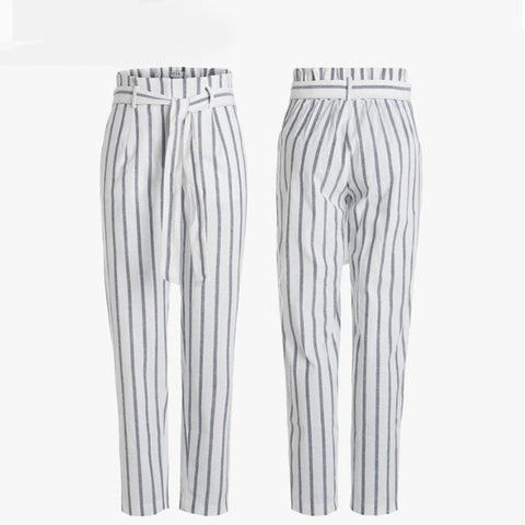 Striped Waist Pants