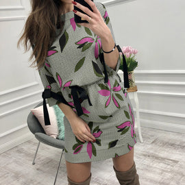 Smile fish Floral Casual dress