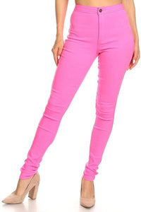 High Waisted Super Stretch Skinny Pants