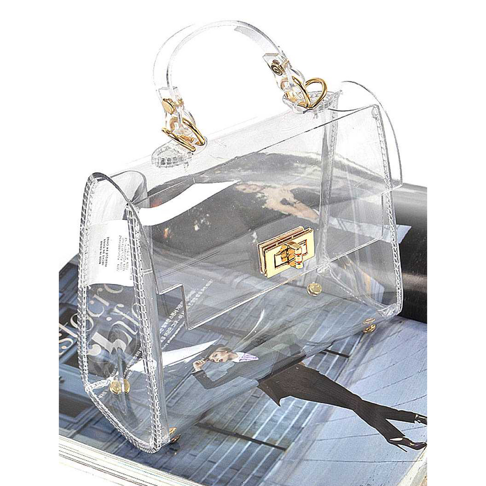 TRANSPARENT SINGLE HANDLE CLUTCH