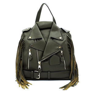 LEATHER JACKET BACKPACK