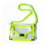 Neon Chic Chain Shoulder Purse
