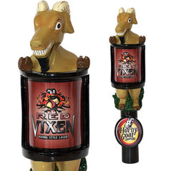 Red Vixen Tap Handle Horny Goat Beer Changeable