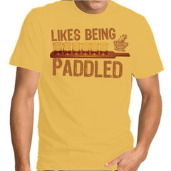 Likes Being Paddled T-shirt Horny Goat Brewery