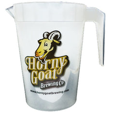 Horny Goat Beer Plastic Pitchers