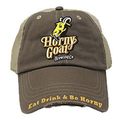 Eat Drink and Be Horny Distressed Baseball Hat