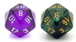Do Transparent Dice Roll Better?
