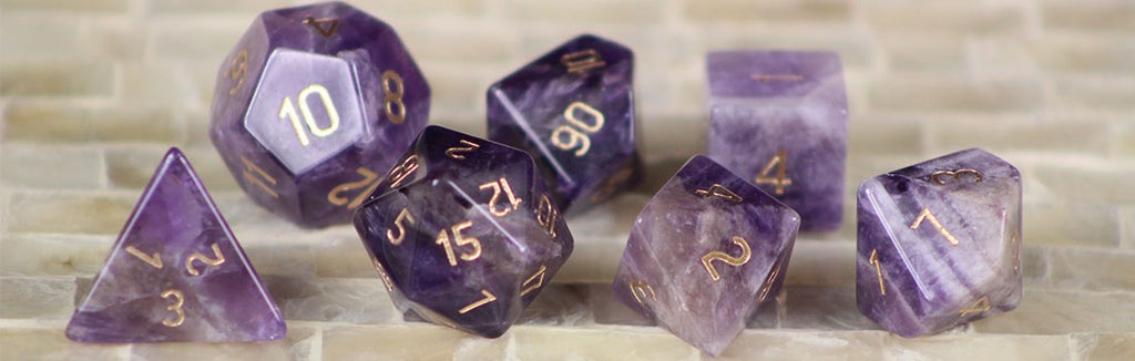 Amethyst Gemstone Dice