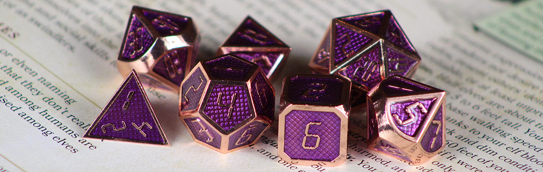 Purple Metal Dice