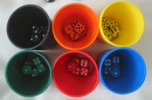 Dice in Cups for Liar's Dice